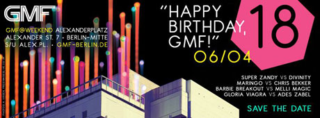HAPPY BIRTHDAY, GMF! - 2 x 2 Tickets for free!
