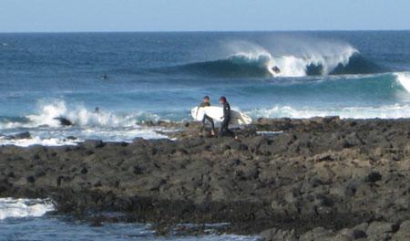 wellenreiten in Fuerteventura