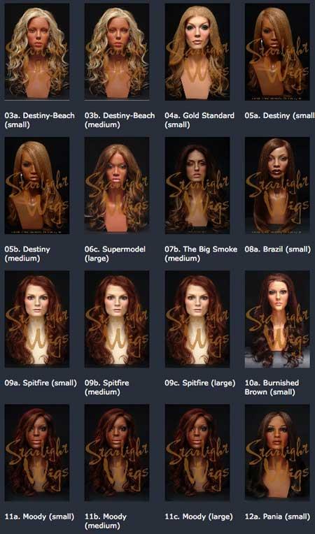 starlight wigs perücken