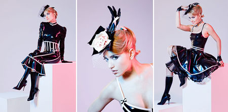 tres bonjour latex couture