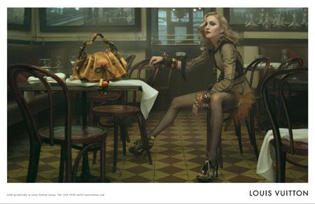 Madonnas trägt Werbung für LOUIS VUITTON